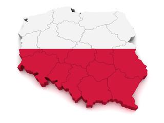 3D Map of Poland