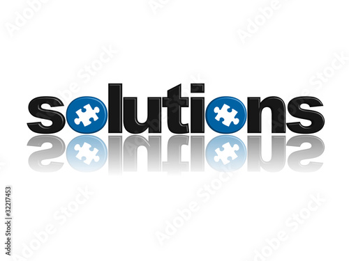 SOLUTIONS Icon (ideas questions and answers jigsaw piece button)