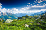 Fototapety mountain panorama from fiescheralp and bettmeralp, wallis, switz