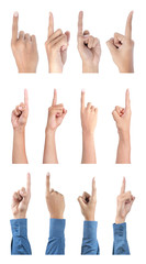 gesture of hand pointing collection