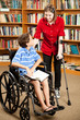 Disabled Kids in Library