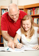 Father Helps Daughter Study