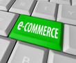 e-Commerce Key on Computer Keyboard