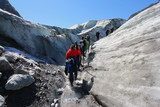 Hiking on ice at Fox Glacier