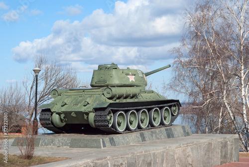 T-34 tank WWII monument in Nizhny Novgorod, RU