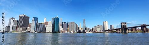 Brooklyn Bridge and Lower Manhattan panorama, New York © Oleksandr Dibrova