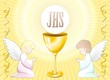 Prima Comunione Angeli Sfondo-First Communion Angels Background