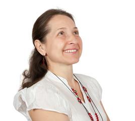 Smiling mature female