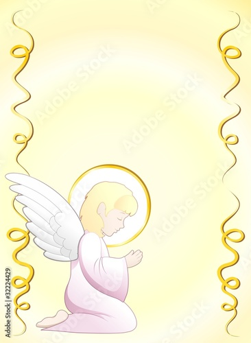 Prima Comunione Angelo Sfondo-First Communion Angel Background