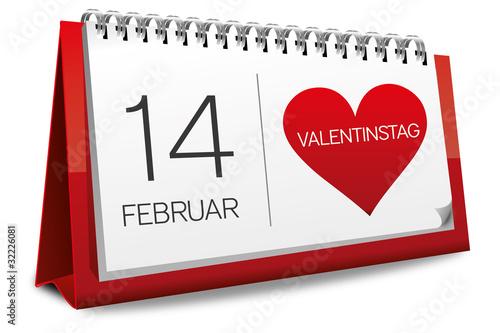 kalender rot 14 februar valentinstag herz from sunt. Black Bedroom Furniture Sets. Home Design Ideas