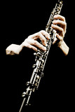 Oboe musical instrument of symphony orchestra. poster