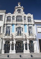 Art nouveau building in Aveiro, Portugal.