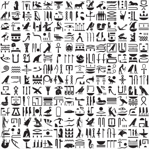 Ancient Egyptian hieroglyphs