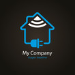 logo entreprise, domotique, maison