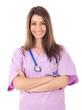 Young beautiful nurse