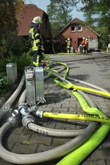 Feuerwehreinsatz nach Gebäudebrand