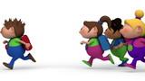 girls chasing boy - loopable
