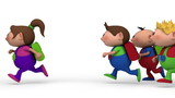 boys chasing girl - loopable