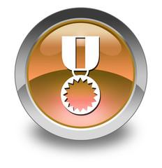 "Orange Glossy Pictogram ""Award Medal"""
