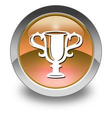 "Orange Glossy Pictogram ""Award Cup"""