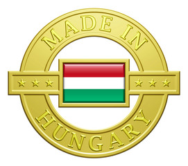 """Made In Hungary"" Golden Plate"