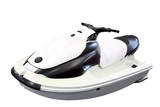 white jet ski isolated