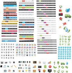 Web mega pack - 64 navigation menus + 188 web icons