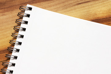 Blank page notepad