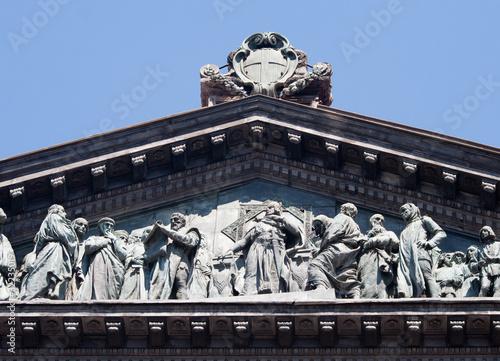 Napoli-Dettaglio del tetto dell'Università Poster