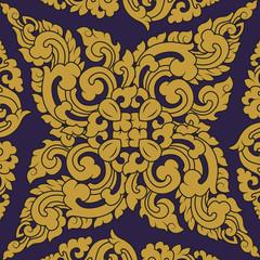 Seamless pattern baroque 01