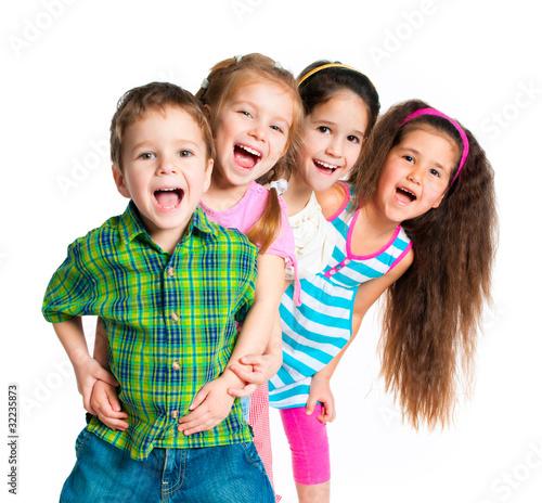 Leinwandbild Motiv small kids