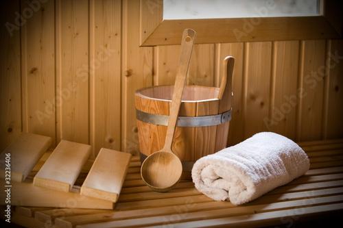 Leinwandbild Motiv sauna welt