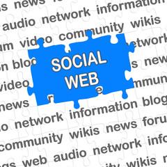 Puzzle blau SOCIAL WEB