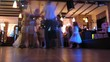 People dance at wedding party