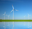 Wind Turbines. Environment energy