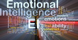 Emotional intelligence background concept glowing