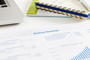 School savings printout