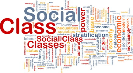 Social class background concept