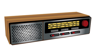 retro vintage radio icon