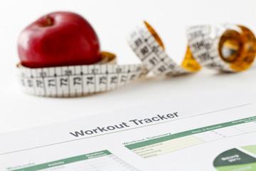 Workout tracker printout