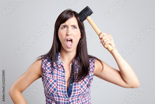 Zorn Frau ist wütend angry