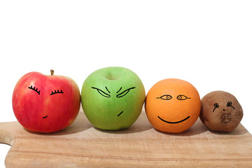 Fruits with faces