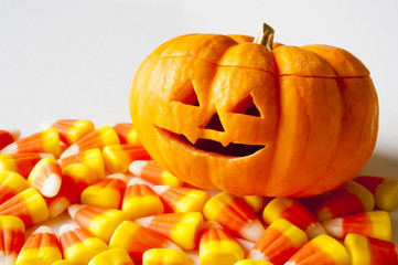 Jack-o-lantern with Candy Corn