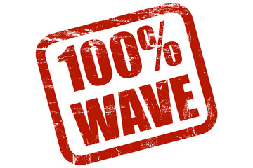 Grunge Stempel rot 100% WAVE