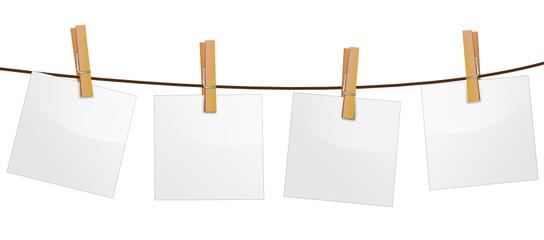 Notizzettel Wäscheleine weiß