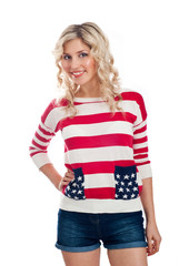 Sexy american-dressed girl