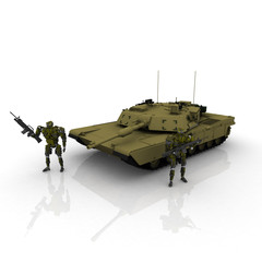 3d tank with robots