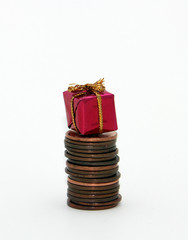 Low budget Christmas gift on pennies