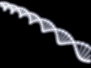 ДНК на черном фоне