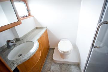 Toilet in yacht